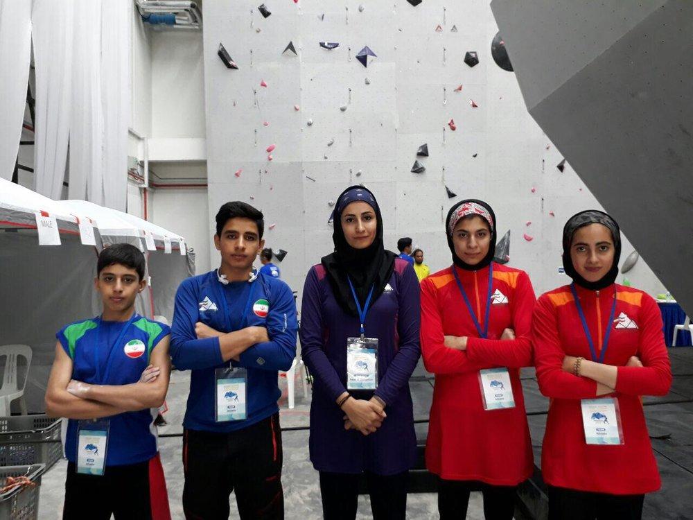 صعود دختران سنگنورد ایرانی به فینال رقابت های آسیایی