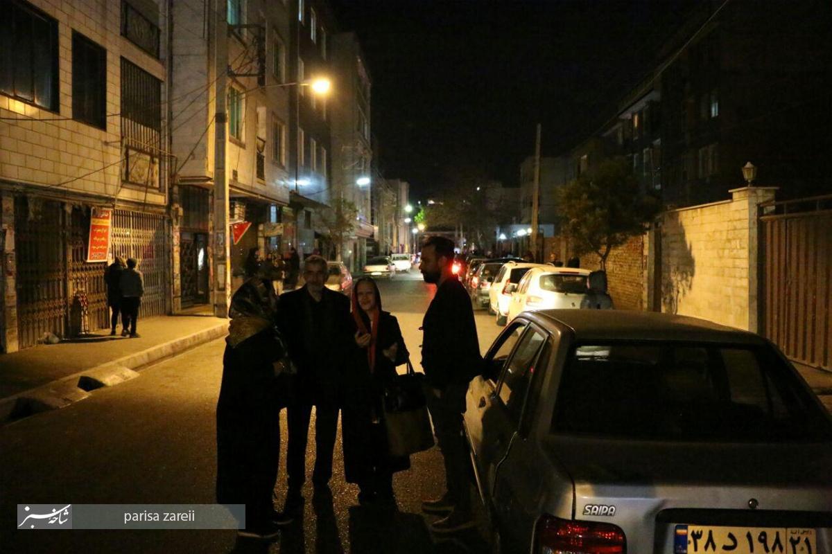 شب پر استرس ملارد پس از زلزله /تصاویر